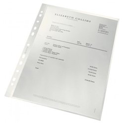 Boîte 100 pochettes perforées format 21 x 29.7 cm