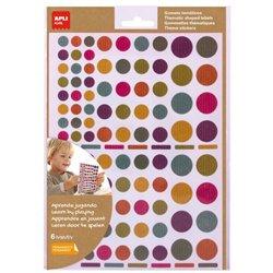 Pochette 624 gommettes rondes kraft couleurs assorties