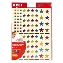 Pochette 624 gommettes étoiles métallisées