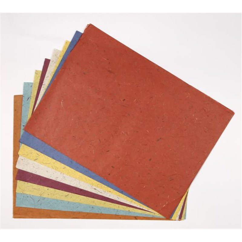 Paquet 20 feuilles papier banane 48x65 cm couleurs assorties