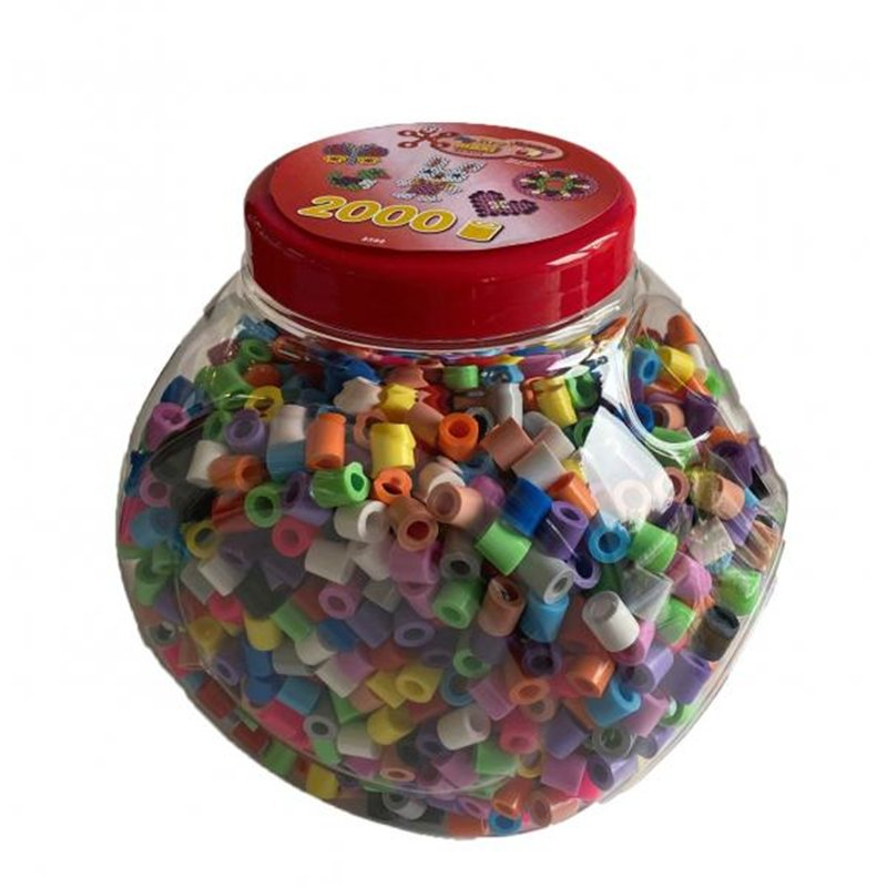 Baril 2000 perles grande taille Ø 1 cm couleurs assorties