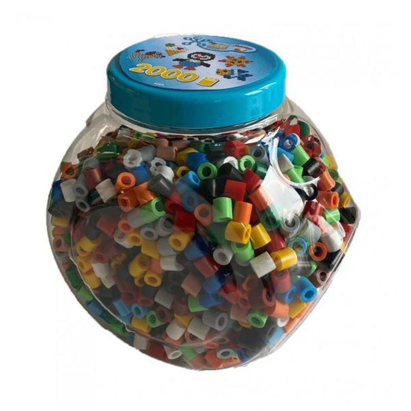 Baril 2000 perles grande taille Ø 1 cm couleurs primaires et pastel