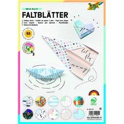 Pochette 50 feuilles 21x29.7 cm papier origami 80g imprimés assorties