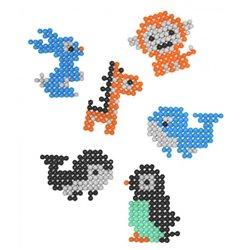 Pack aquaperles Aqua'nimals 1500 pièces 3x3 mm 5 couleurs assorties +10 modèles