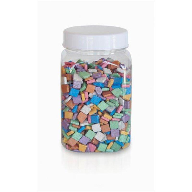 Pot 1kg de mosaïques nacrées couleurs assorties