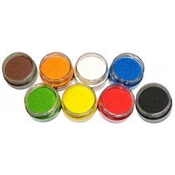 Assortiment 8 salières 100g sable coloré couleurs vitaminées
