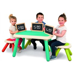 Tabouret et table Kid